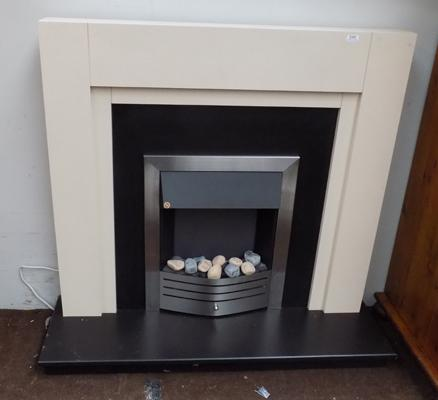 Katell electric fire with surround