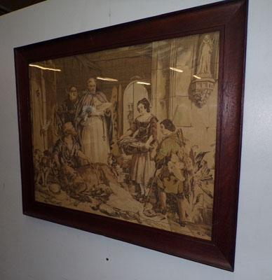 Large embroidered picture