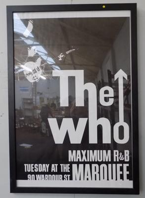 'The Who' framed print