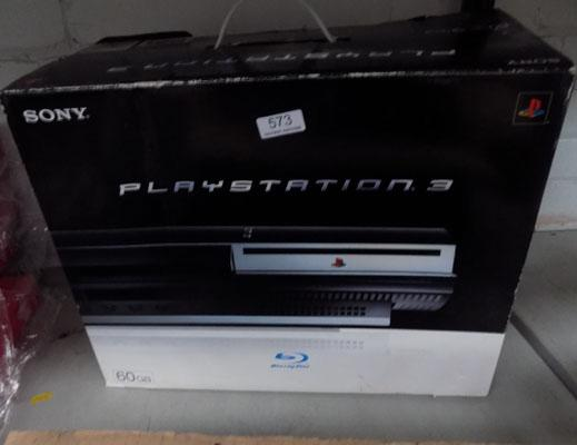 Boxed PS3 in box with controller