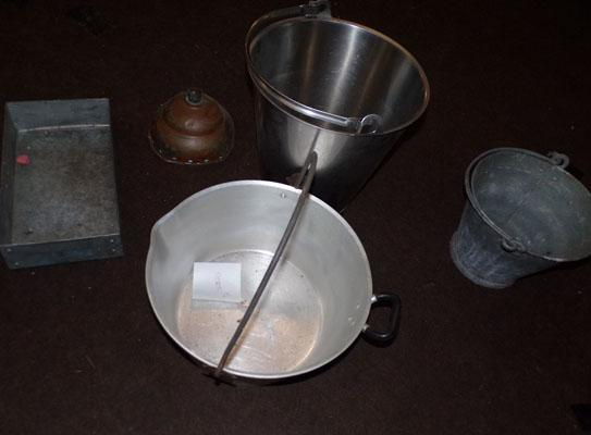 Selection of milk buckets & others