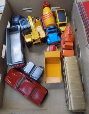 Selection of diecast vehicles including Corgi and Matchbox