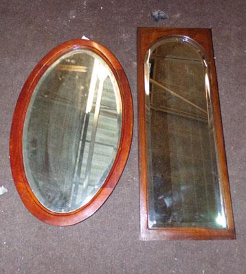 2 x mirrors, one oval