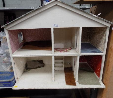 Vintage dolls house and furniture