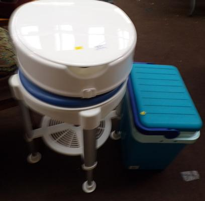 Disability toilet and cooler box