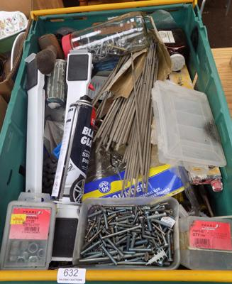 Box containing tools and other DIY items