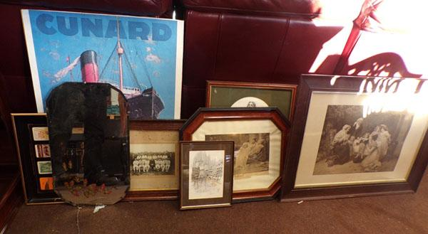 Selection of vintage mirrors & pictures