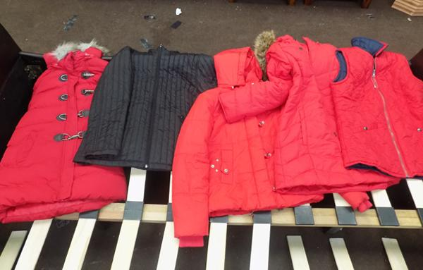 Selection of new winter ladies coats