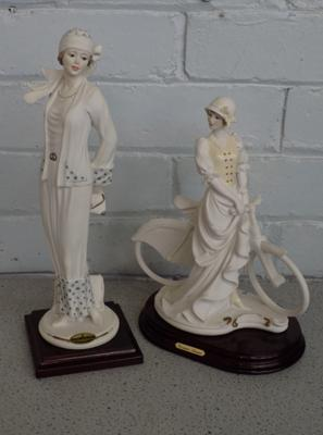 Two Capodimonte Florence Art Deco, style figurines