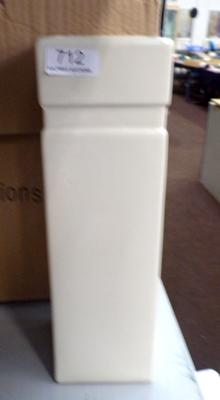 Selection of cream chimney style vases