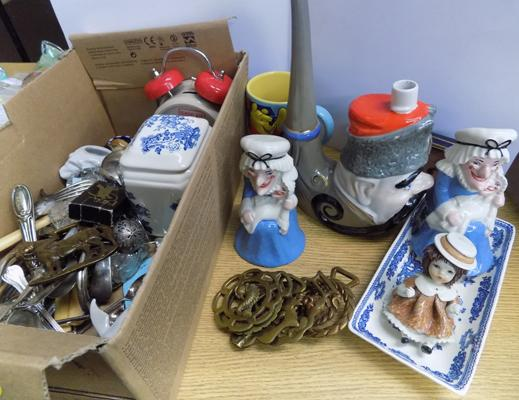 Selection of collectables including, Wade, Masons etc.