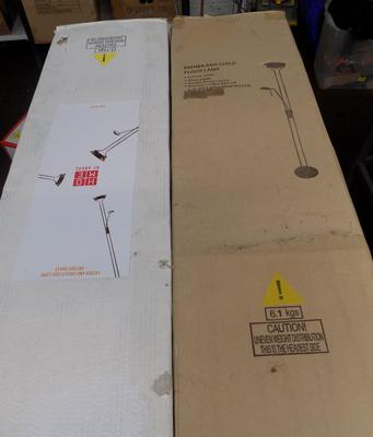 2 floor lamps (boxed)