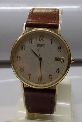 9ct gold hall marked Citizen gent's watch