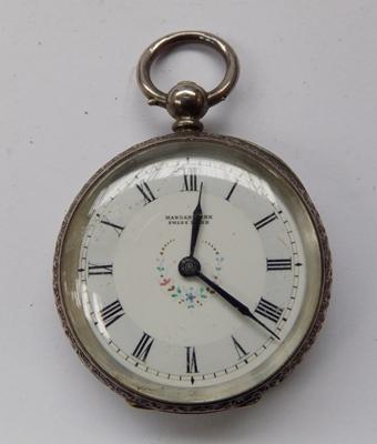 Antique hallmarked silver pocket watch, key wound