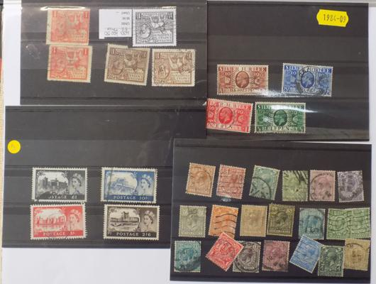 King Edward & Queen Elizabeth Selection of used stamps
