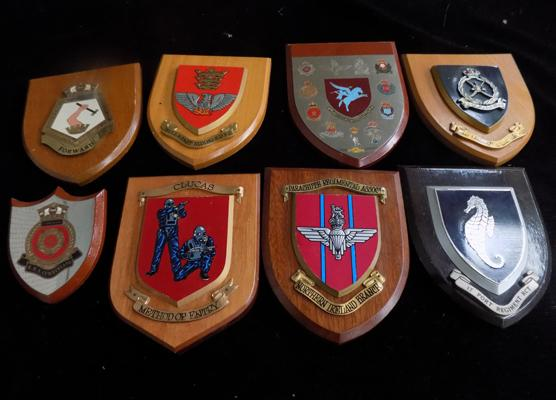 Collection of regimental plaques
