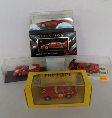 Five mixed lot of diecast racing cars