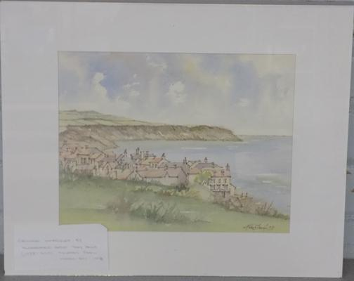 Original watercolour by Huddersfield artist - Tony Haigh, (1938 - 2013) - no frame