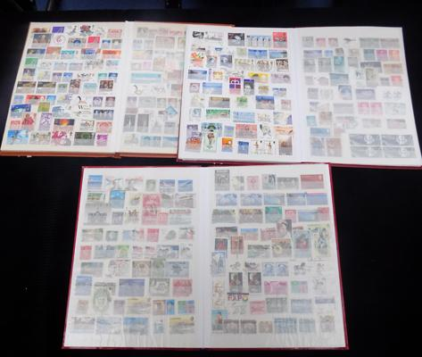 3 well filled albums of British and World stamps