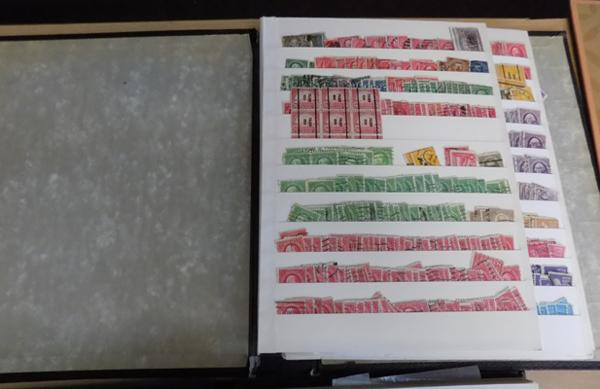 Well filled stock book - USA stamps