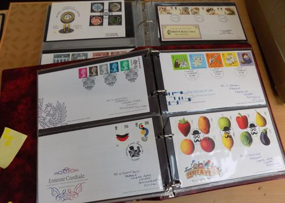 Two albums of first day covers