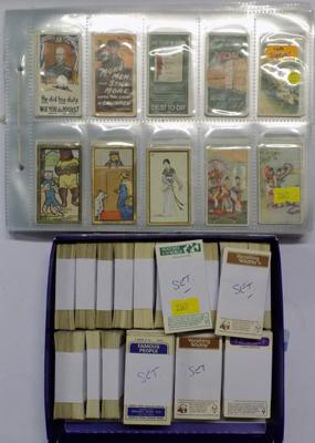 Cigarette & trade cards, some full sets
