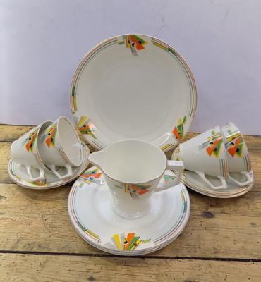 Genuine 1930's Art Deco part tea set, Grindley, England