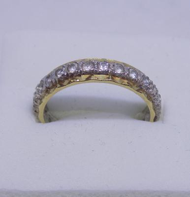 9ct Gold eternity ring size M1/2