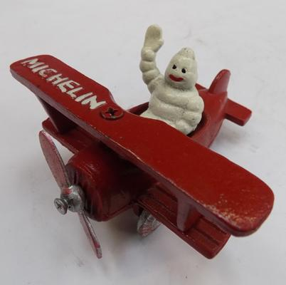 Cast iron Michelin man aeroplane