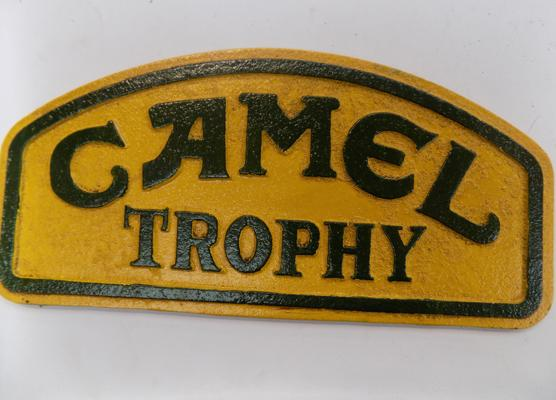 Cast iron camel trophy sign