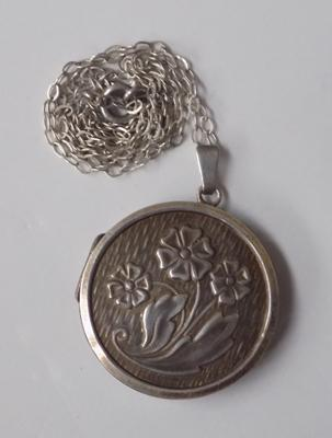 Vintage silver locket on silver chain