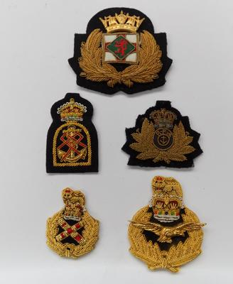 A collection of British Navy & Royal Airforce badges