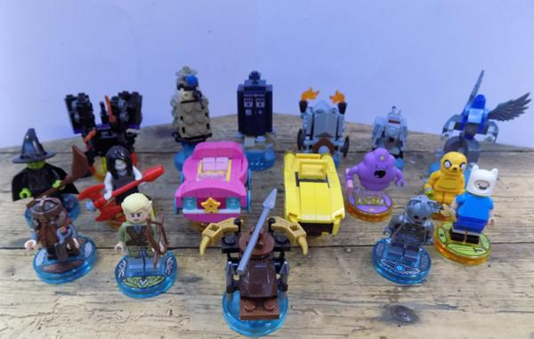 Collection of Lego Dimensions characters & vehicles