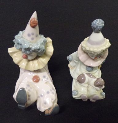 2x Lladro figures-Clowns