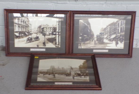 Three framed prints of vintage Bradford