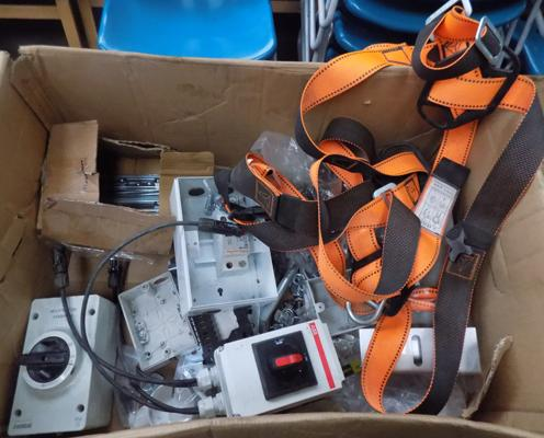 Safety harness & various electrician's items