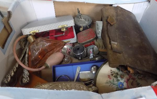 Mixed box of collectables incl. baby feeder pusher