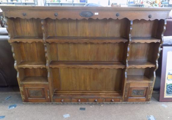 Solid oak top shelf - 1890