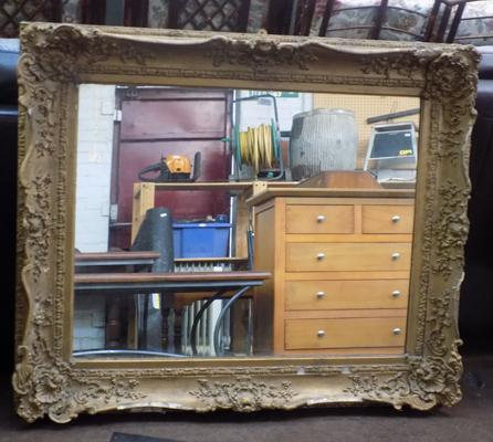Gold gilted mirror - at fault