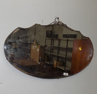 Bevel edged mirror