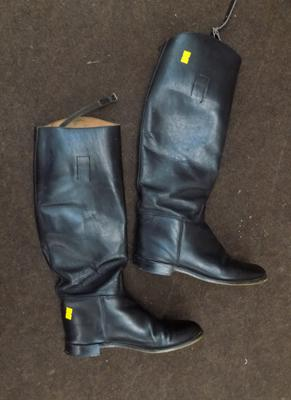 Marlborough English leather full length riding boots, little wear, size 6 1/2