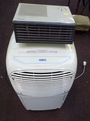 Delonghi dehumidifier w/o & Philips fan heater