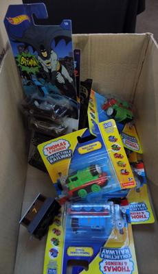 Box of mixed diecast - incl. Batman