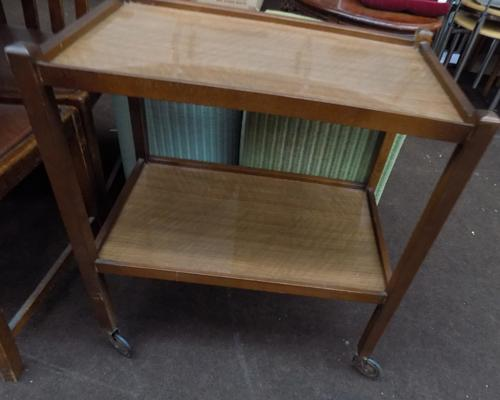 Wooden hostess trolley