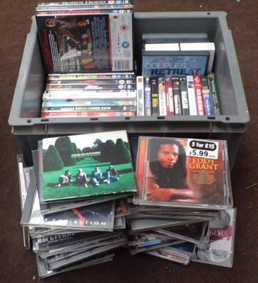 Box of CD's and DVD's