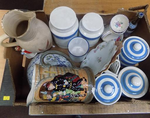 Box of mixed pottery incl. Beswick