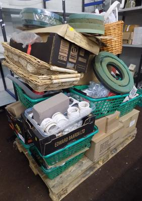 Pallet of floristry shop items