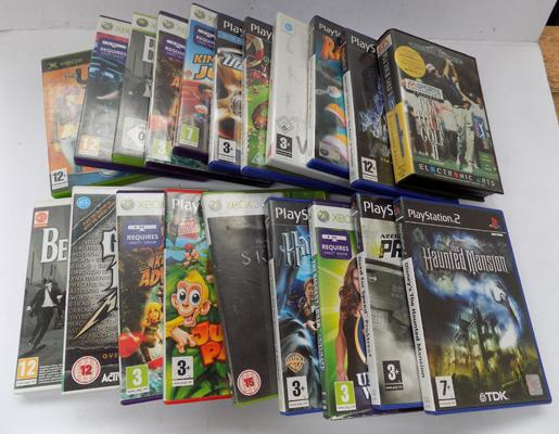 Box of XBox 360 + Playstation games, x 20