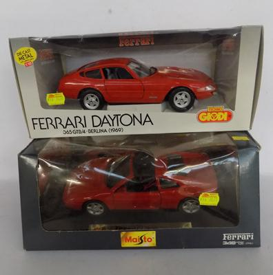 Two new boxed Ferraris
