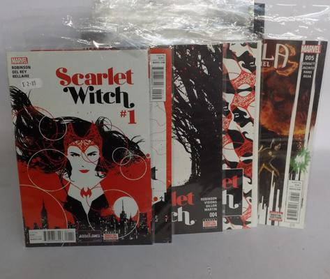 31 x Marvel comics incl. Scarlet Witch/ Spiderman/ Angela Queen of Hell , several no.1s